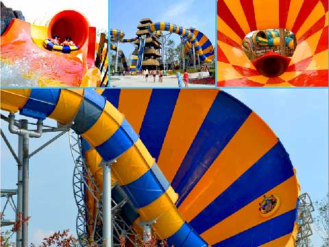 Spiral Trumpet Giant Water Slide For Sale Indonesia - Beston Factory