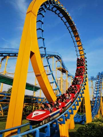 BNRC 01 - Three-loop Roller Coaster For Sale